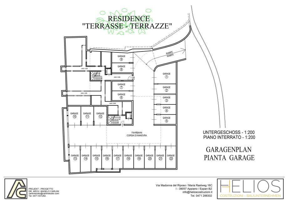garages planimetria e prezzi piani e prezzi di vendita